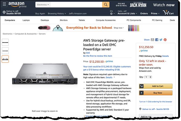 new aws storage gateway hardware appliance aws news blog. Black Bedroom Furniture Sets. Home Design Ideas