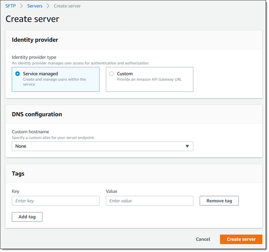 New – AWS Transfer for SFTP – Fully Managed SFTP Service for