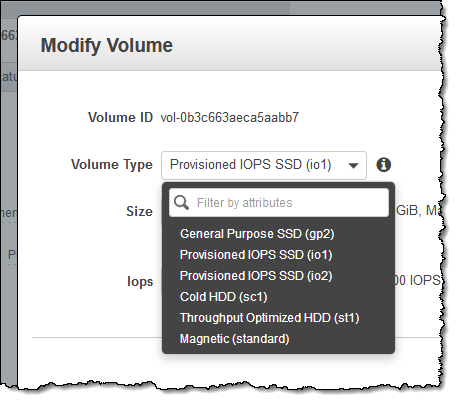 New EBS Volume Type (io2) – 100x Higher Durability and 10x More IOPS/GiB