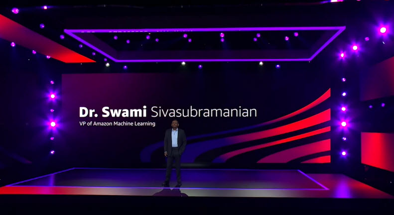 Dr. Swamin Sivasubramanian on stage