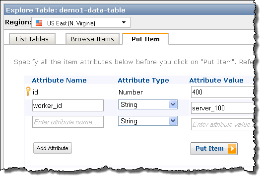 Explore Your DynamoDB Tables Using the AWS Management