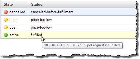 Amazon Ec2 Spot Instance Bid Status Aws News Blog