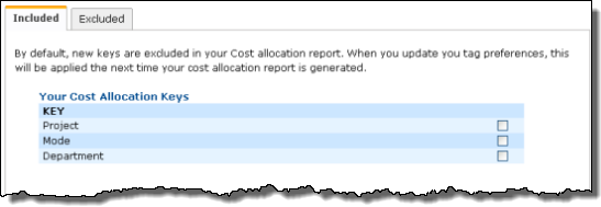 AWS Cost Allocation For Customer Bills - Select Tags