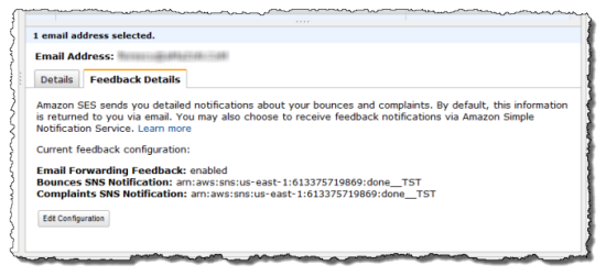 Programmable Feedback Notification For The Simple Email Service